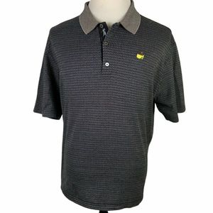 The Masters Bobby Jones Polo Golf Shirt XL Black